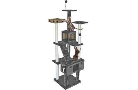 Furhaven Pet Cat Tree for Large Cats