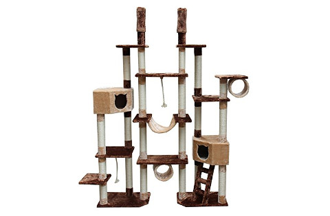 CozyCatFurniture Giant Floor to Ceiling Cat Tree Tower