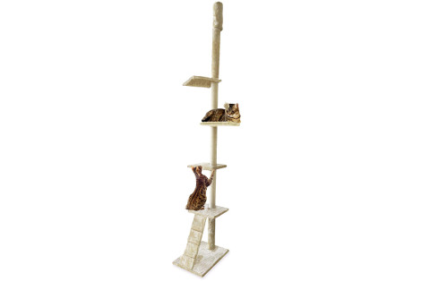 Furhaven Tiger Tough Ladder Playground floor to ceiling cat tree