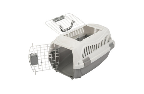 Portable two door top load pet carrier